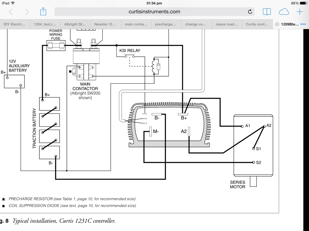 Curtis 1204 Controller Wiring Diagram from www.diyelectriccar.com