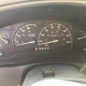 Instrument cluster, only 6,677 ORIGINAL miles!